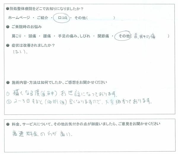 愛知県名古屋市 40代 男性 大塚裕之さま