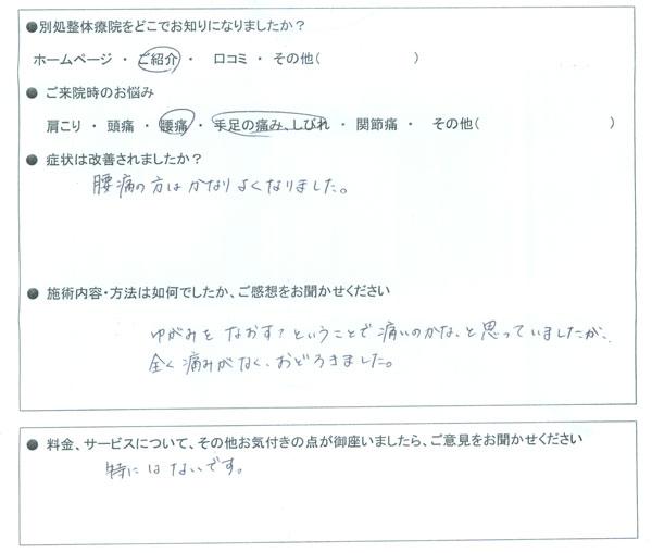 岐阜県岐阜市 10代 女性 Oさま